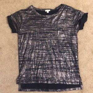 Gap size XS blue and silver cute t shirt